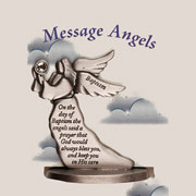 Pewter Baptism Message Angel