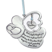 Boy's Guardian Angel Pewter Crib Medal