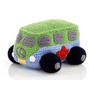 Cotton Crochet Rattling Camper Van By Pebble