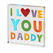 I Love You Daddy Token With Free Spaceform Gift Bag