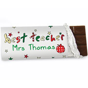 Personalised Best Teacher Chocolate Bar Free Delivery