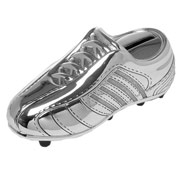 Silver Plated Football Boot Money Box