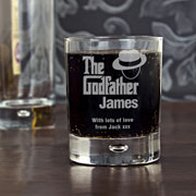 The Godfather Personalised Whisky Glass Exclusive