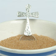 Pewter Cross Spoon by Glover & Smith