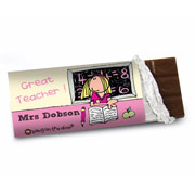 Bang On The Door Female Teacher Chocolate Bar - Free Del