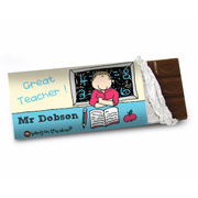 Bang On The Door Male Teacher Chocolate Bar - Free Del