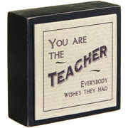 East of India Teacher Wooden Block