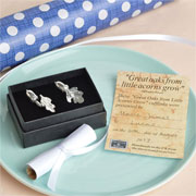 Glover & Smith Little Acorns Pewter Christening Cufflinks