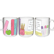 Personalised Female Teacher Books Mug
