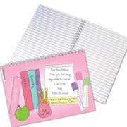 Personalised Female Teacher 'Books' Notebook