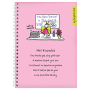 Purple Ronnie Female Teacher Notebook
