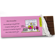 Purple Ronnie Female Teacher Chocolate Bar - Free Del