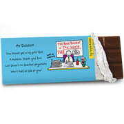 Purple Ronnie Male Teacher Chocolate Bar - Free Delivery