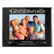 Black Personalised Glass Grandparents Photo Frame