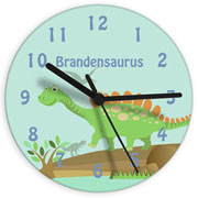 Personalised Glass Dinosaur Clock