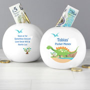 Personalised China Dinosaur Money Box