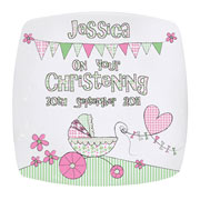 Personalised Whimsical Pram Plate