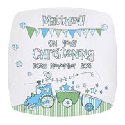 Whimsical Train Personalised China Plate
