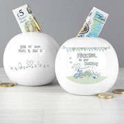 Whimsical Train Personalised Money Box