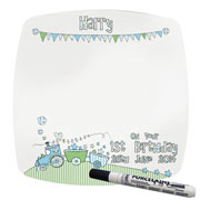 Whimsical Train Personalised 1st Birthday Message Plate