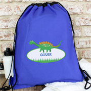 Personalised Dinosaur P.E. Bag, Swim Bag, Kit Bag