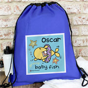 Personalised Baby Fish Boy's Swim Bag