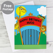Personalised Children's Zoo Animal Themed Birthday Card