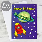 Personalised Space Card - Free Delivery