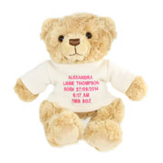 Teddy Personalised Message Bear Pink or Blue