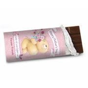 Forever Friends Flowers Chocolate Bar  - Free Delivery