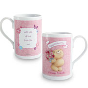 Forever Friends Flowers Personalised Mug