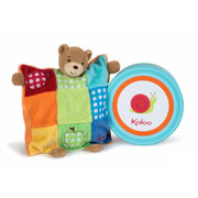 Kaloo 'Colours' Patchwork Puppet Bear Comforter