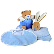 Kaloo Plume Blue Baby Boy Gift Set