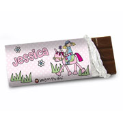 Personalised Pony Princess Chocolate Bar - Free Delivery