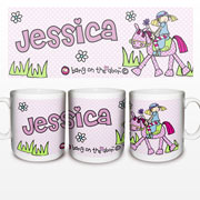 Personalised Pony Princess Ceramic Mug