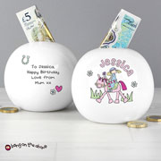 Personalised Pony Princess Ceramic Money Box