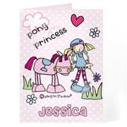Personalised Pony Princess Card Free Delivery