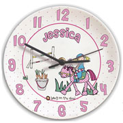 Personalised Pony Princess Ceramic Clock