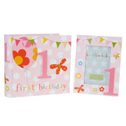 Girl's First Birthday Photo Gift Set
