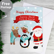 Felt Stitch Friends Personalised Christmas Card