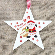 Felt Stitch Santa Wooden Star Decoration