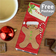 Felt Stitch Gingerbread Man Chocolate Bar Free Delivery