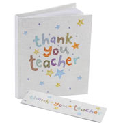 Thank You Teacher Notebook and Magnetic Bookmark