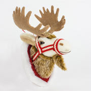Fabric Hanging Reindeer Head Small