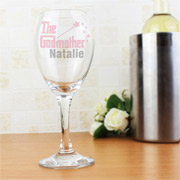 The Godmother Personalised Wine Glass - Exclusive