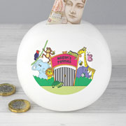 Personalised China Zoo Children's Money Box