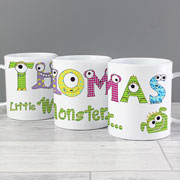 Personalised Monster Alphabet Drop Proof Children's Mug