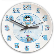 Personalised Ceramic Pirate Clock