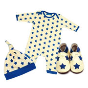 Stardom Babygro, Hat & Shoe Gift Set by Inch Blue
