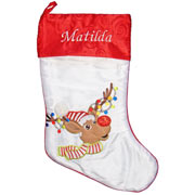 Personalised Christmas Stocking Rudolf Design